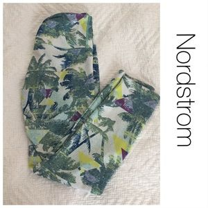 Nordstrom BP Palm Tree Print Athletic Leggings S